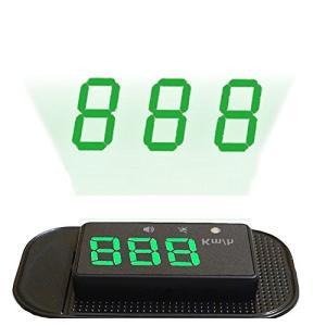 ニコマク NikoMaku HUD ヘッドアップディスプレイ 車載スピードメーター GPSで連動、時速をフロントガラスに 過速 web-mark