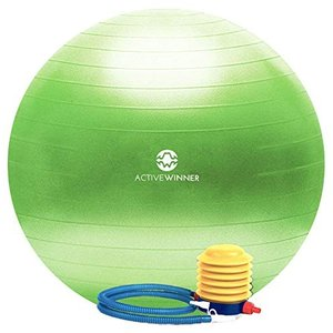 Active Winner バランスボール 65/55cm アンチバースト 分厚い 滑り止め加工 フ...