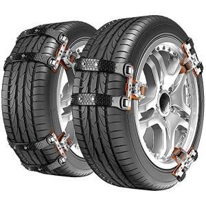 Willnorn [2020最新版] タイヤチェーン 冬の必需品 非金属タイヤカバー スノーチェーン スノーアーマー 自動車タイ|web-mark