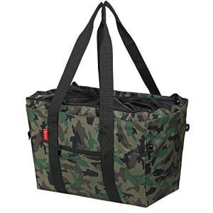 nicoly 保冷 レジカゴバッグ エコバッグ 肩から提げれる ショッピングバッグ 26L (カモフ...