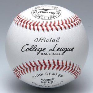 ミズノ 硬式野球ボール カレッジリーグ 高校試合球 (1ダース/12球入り) 1BJBH10300 web-sports-do