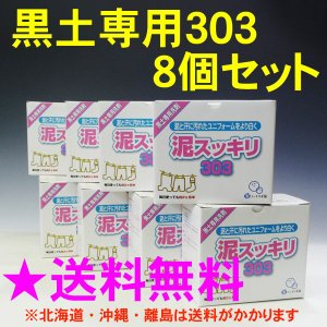 泥スッキリ本舗 泥スッキリ303 泥汚れ専用洗剤 (黒土専用) 8個セット doro-303N-8set