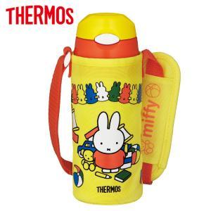 サーモス 水筒 真空断熱ストローボトル 400ml イエローオレンジ ミッフィー (miffy) F...