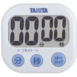 TANITA (タニタ) デジタルキッチンタイマー でか見えタイマー 100分計 ホワイト TD-3...
