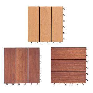 デッキ床化粧材 天然木タイルタイプ|web-takigawa