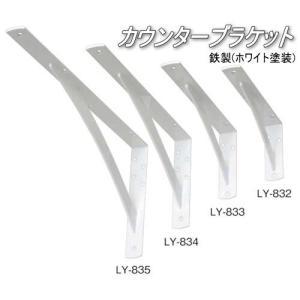 棚受け金具 カウンターブラケット 鉄製 LY-833(2本入り)|web-takigawa