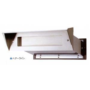 ポスト口(郵便受け・シュート)埋め込み型ひさし付き #24 ステンレスヘアライン 厚壁用|web-takigawa