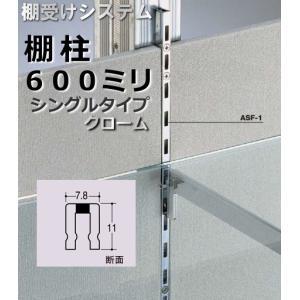 棚受け金具 棚柱(支柱レール) シングルタイプ600ミリ|web-takigawa