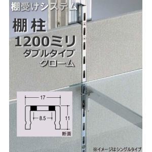 棚受け金具 棚柱(支柱レール) ダブルタイプ1200ミリ|web-takigawa