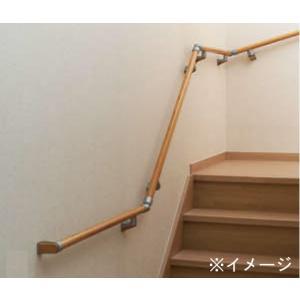 住宅用木製階段手すりセット 90°2段回り階段用