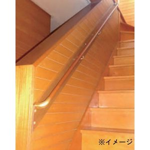 住宅用木製階段手すりセット 直線4Mベースプレート無し
