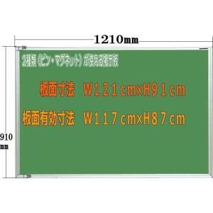 ピン マグネット使用可能室内掲示板 グリーン 1210mm×910mm|web-takigawa