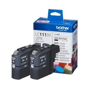 【送料無料】 ブラザー インクカートリッジ お徳用黒2個パック LC111BK-2PK