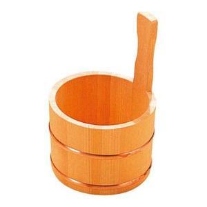 さわら 片手 湯桶 銅タガ D-33-03 3481000|webby