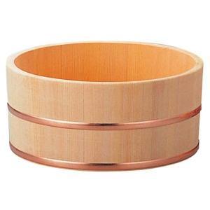 さわら 風呂桶 銅タガ 6-481-7 φ230×115 3480900|webby