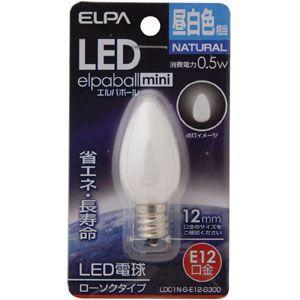 ELPA LED電球 ローソク型 E12 LDC1N-G-E12-G300|webby