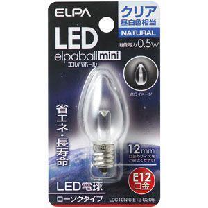 ELPA LED電球 ローソク型 E12 LDC1CN-G-E12-G305|webby