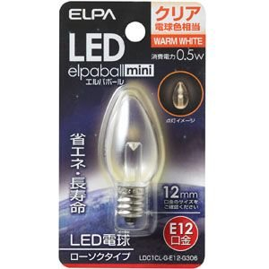 ELPA LED電球 ローソク型 E12 LDC1CL-G-E12-G306|webby