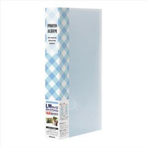 ナカバヤシ フォトホルダー L・P・KG判 3段ポケット台紙 チェック柄 ブルー PHE1168A-B|webby