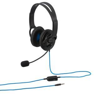 ナカバヤシ Digio2 PS4対応ゲーム用 オーバーイヤーヘッドセット 両耳ステレオタイプ ブラッ...