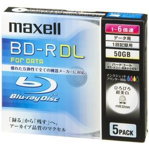 マクセル maxell データ用BD-R DL ブルーレイディスク 6倍速対応 ひろびろ超美白レーベル 5枚 BR50PWPC.5S|webby