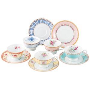 鳴海製陶 フローラルブティック 5客アソート碗皿 41721-33459|webby