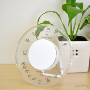 EMPEX エンペックス セレナ温・湿度計 ホワイト LV-4303 webby