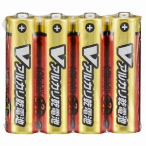 オーム電機 単3形 Vアルカリ乾電池 4本入 L...の商品画像