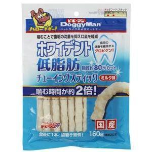 ドギーマンハヤシ ホワイトデント 低脂肪 チューイングスティック ミルク 160g 2027470 ◇◇