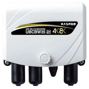 【あすつく】マスプロ電工 4K・8K対応 UHF・BS・CSブースター 35dB UBCBW35