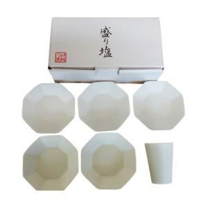静岡木工 神棚用神具 八角盛り塩セット(八角皿5枚付き )|webby