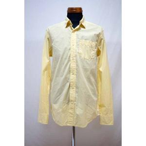 GAP ギャップ ストライプシャツ メンズ 古着 中古 イエロー 黄色 サイズS