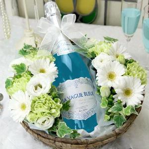 ワインと花 ギフト ラ・ヴァーグ・ブルー|webflora