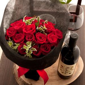 誕生日 バラ ばら 薔薇 ワインとバラ花束 コローシ|webflora