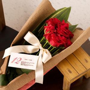 誕生日 ばら 薔薇 1ダースのバラ|webflora