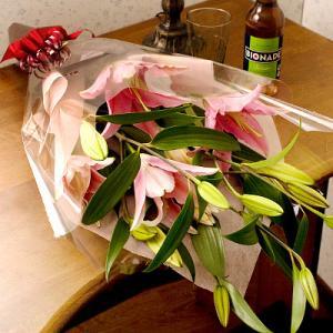 誕生日の花 ピンクリリー ユリ花束|webflora