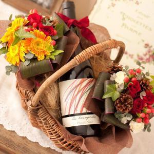ワインと花 ギフト バスケットワインピノ|webflora