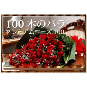 誕生日 祝いの花 プレミアムローズ100(100本のバラ花束)|webflora