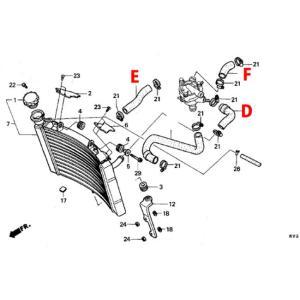 T2 Racing T2レーシング センタープラグ化用 シリコンラジエターホース フルセット HONDA NSR250R|webike02|09