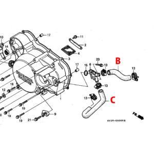 T2 Racing T2レーシング センタープラグ化用 シリコンラジエターホース フルセット HONDA NSR250R|webike02|10