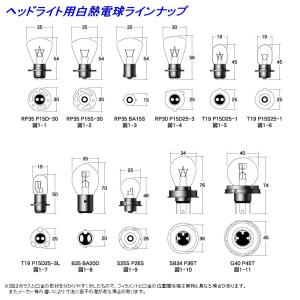 M&H マツシマ エムアンドエイチマツシマ 白熱電球 ヘッド球 T19 P15S25-1 HONDA ゴリラ webike