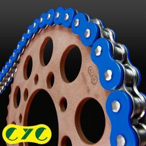CYCチェーン CYC CHAIN 525-120L カラーシールチェーンソリッドカラー(ブルー) HONDA SHADOW600 シャドウ|webike