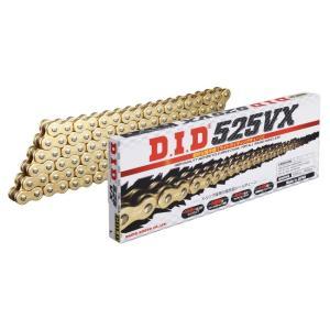 【在庫あり】DID ダイドー VXシリーズチェーン 525VX ゴールド カシメ(ZJ)ジョイント付属 APRILIA DORSODURO750 (ABS / FACTORY) 08-10|webike