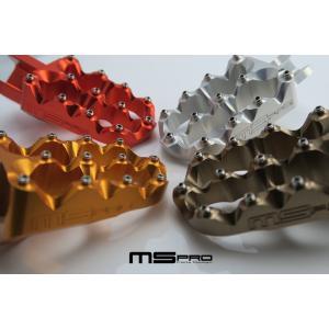 【在庫あり】MSPRO エムエスプロ CNCアルミニウムフットペグAタイプ KTM KTM 690 SMC|webike