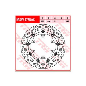 TRW ティーアールダブル BRAKE-DISCS RACING MSW277RAC2 KTM Adventure 990 KTM-LC8  06-13 webike