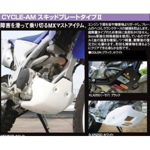 KLX250ES ガード・スライダー CYCLE-AM サイクラム スキッドプレートタイプII|webike