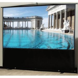 ELITE エリート F100XWV1 フロアタイプポータブルスクリーン 100インチ(4:3) マックスホワイト素材 ブラックケース|webjapan