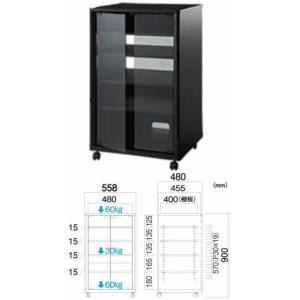 TIMEZ(NX-B301)レギュラーコンポ用タテ型ラック ブラック(横558mm高さ900mm)|webjapan