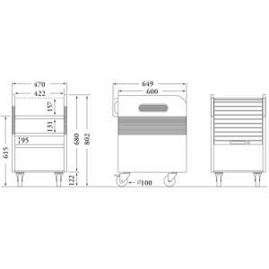 IZUMI (イズミ)  PJ-CW  プロジェクターカート|webjapan|02