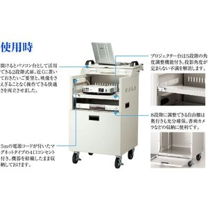 IZUMI  イズミ PJ-I  2段階扉式プロジェクターカート|webjapan